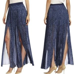 BCBGMAXAZRIA Dillion Pleated Maxi Skirt